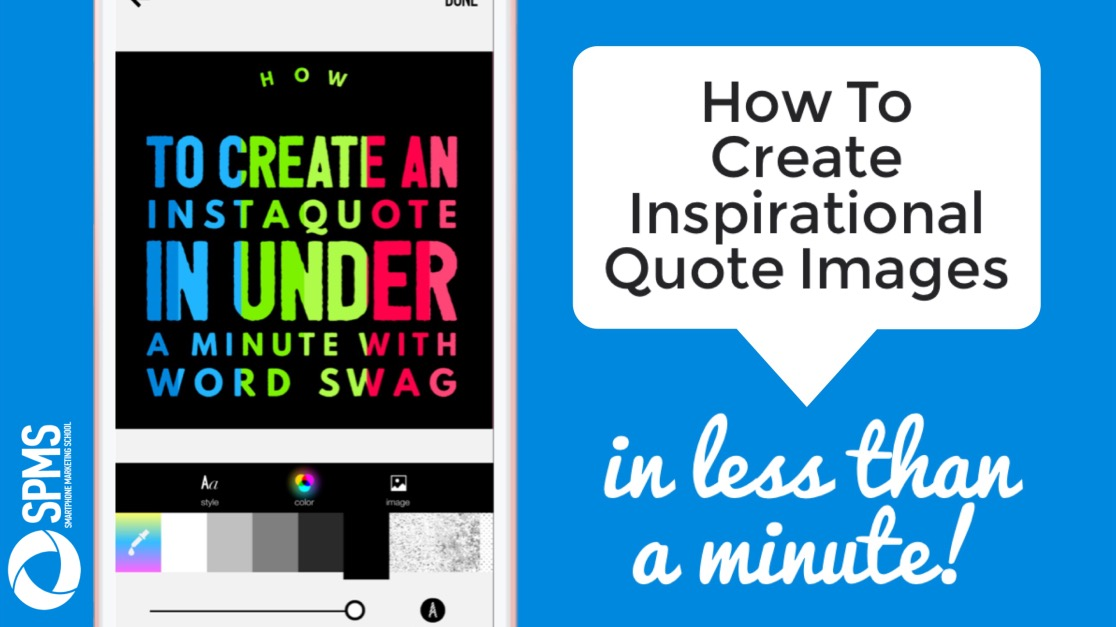 How to create inspirational quote images with Word Swag