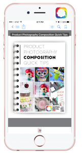 Product photography composition tips free Ebook