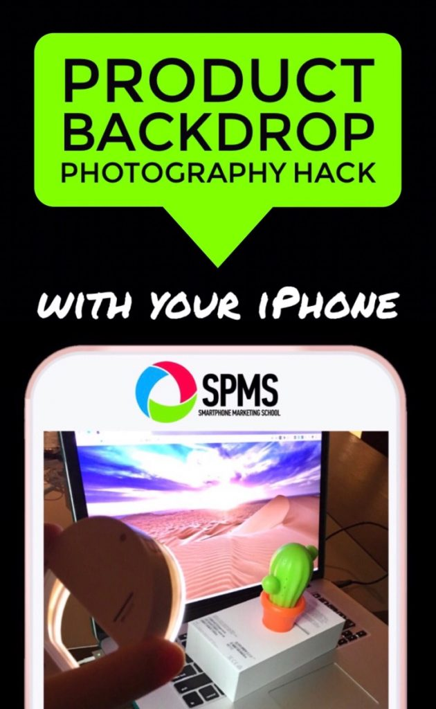 Low Budget iPhone Product Photography Backdrop Hack